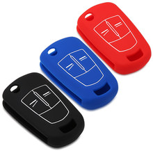 1pcs red black Silicone 2 buttons Car Key Case Cover for opel Vauxhall Corsa D Astra Vectra Zafira Signum(China)