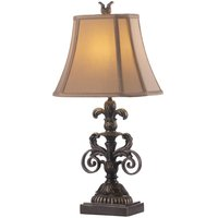 Retro European Fabric Study Room Desk Light Bedroom Bedside Loft Royal Table Lamp Country Rustic American Table Lights