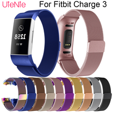 Milanese strap For Fitbit Charge 3 frontier/classic wrist strap band For Fitbit Charge 3 smart watch wristband accessories все цены