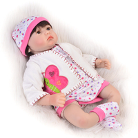 22Inch Reborn Baby Dolls Toy Soft Silicone Realistic Newborn Baby Doll Lifelike Babies With Mohair Kids