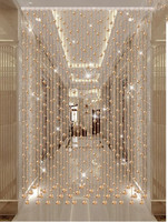 Bead curtain crystal partition living room porch hallway toilet screen Fengshui household door curtain decorative curtain withou