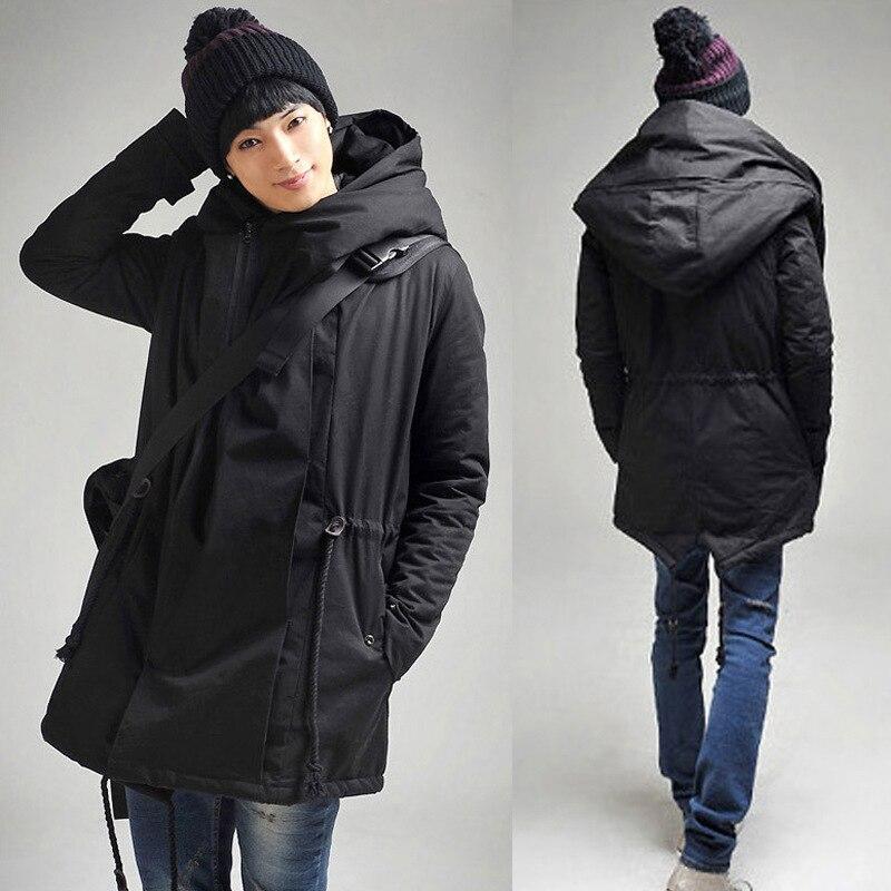 Hommes Long hiver manteau 2017 chaud mode hommes à capuche pardessus Long épais rembourré vestes surdimensionné M-5XL homme veste hiver chaud T285