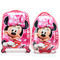 Fashion Girls Minnie Mouse Rolling Luggage Suitcase/Children Hardside Travel Trolley Bag/Cartoon Student School Bag On Wheels