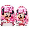 Fashion Girls Minnie Mouse Rolling Luggage Suitcase/Children Hardside Travel Trolley Bag/Cartoon Student School Bag On Wheels