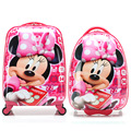Moda meninas Minnie rolando mala de bagagem / crianças Hardside saco Trolley de viagem / estudante dos desenhos animados escola Bag On Wheels