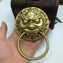Заводские розетки Античная китайская дверная ручка классический молоток зверь головка молоток латунь голова льва общая длина 138 мм