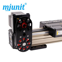 mjunit MJ80 with 2000mm stroke length Timing Pulley Reducer electric linear actuator for lift table rail unit