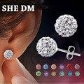 Pendientes Aros Pendientes Mujer India de Compras En Línea Para Las Mujeres Brincos Earing Brinco Oorbellen Perlas de Cristal Stud Pendiente 2017