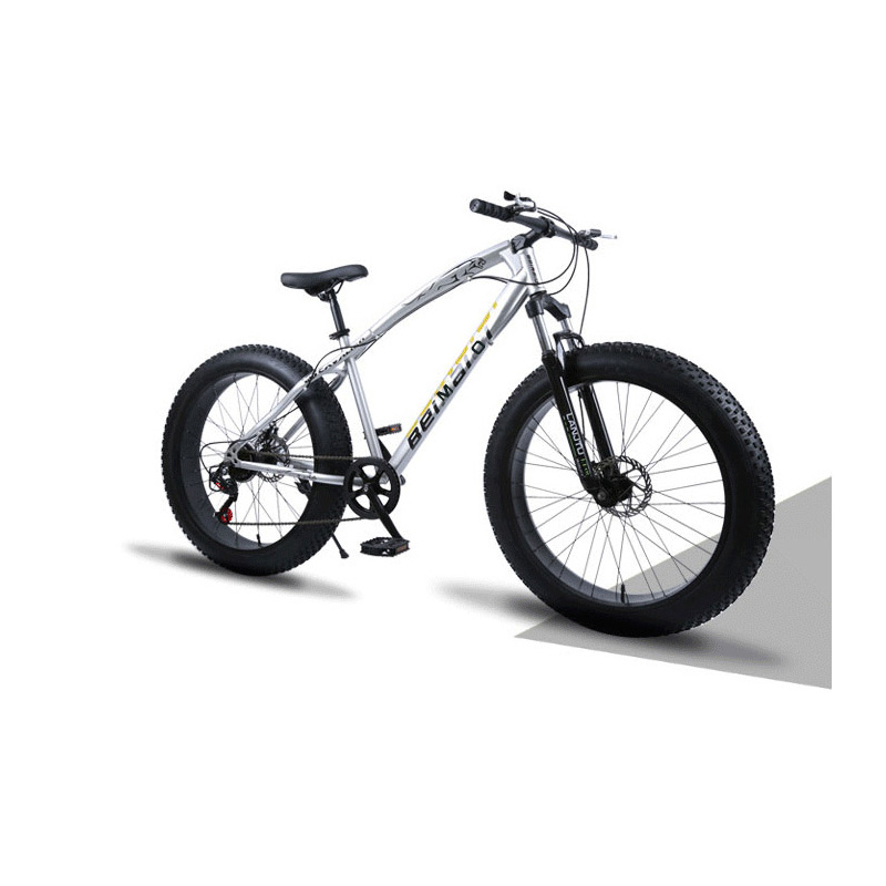 Snow Mountain Bicycle 24 Inch 27 Speed High Carbon Steel Frame Double Disc Brake Off-Road Variable Speed Beach Bike