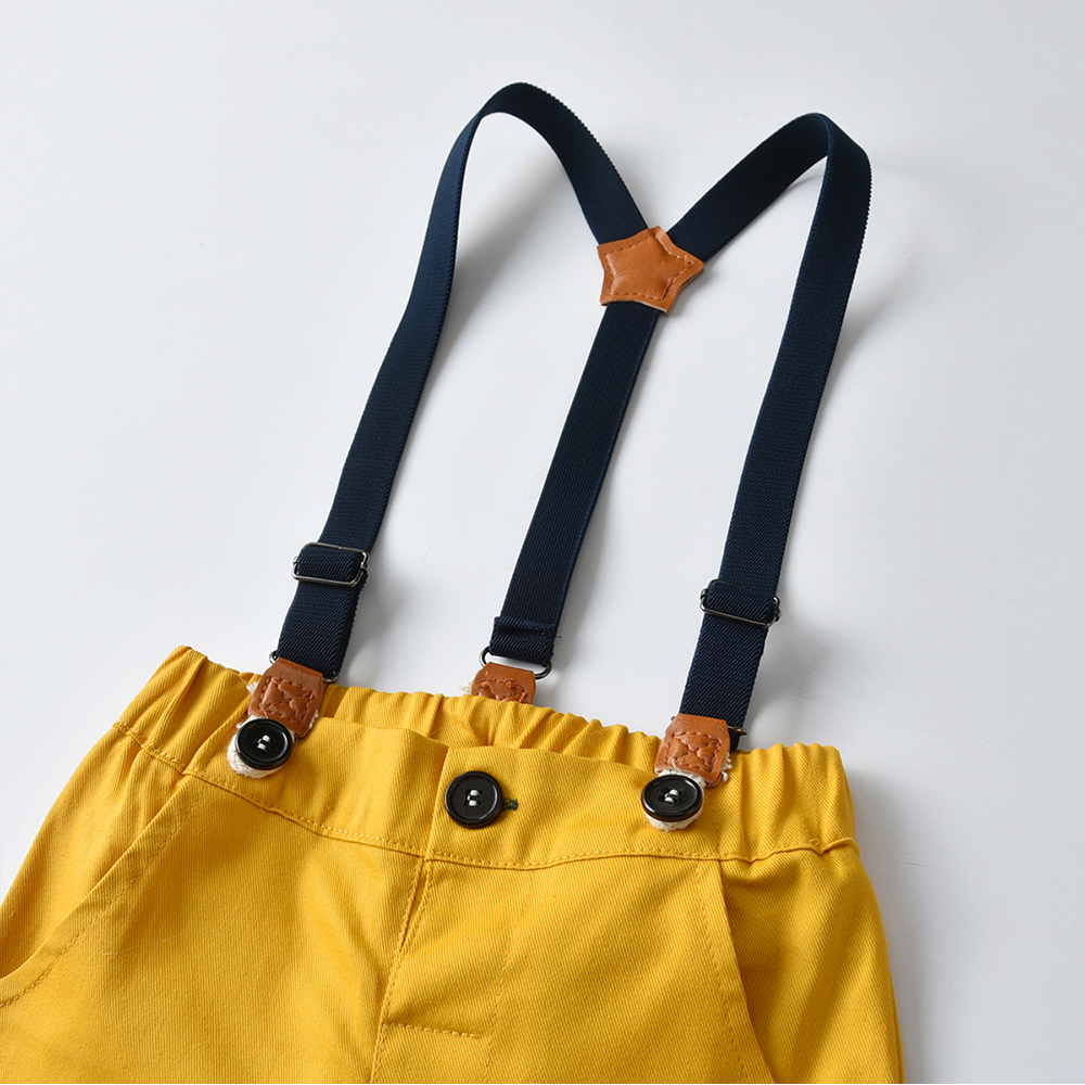 Short Sleeve Colorful Overalls Set