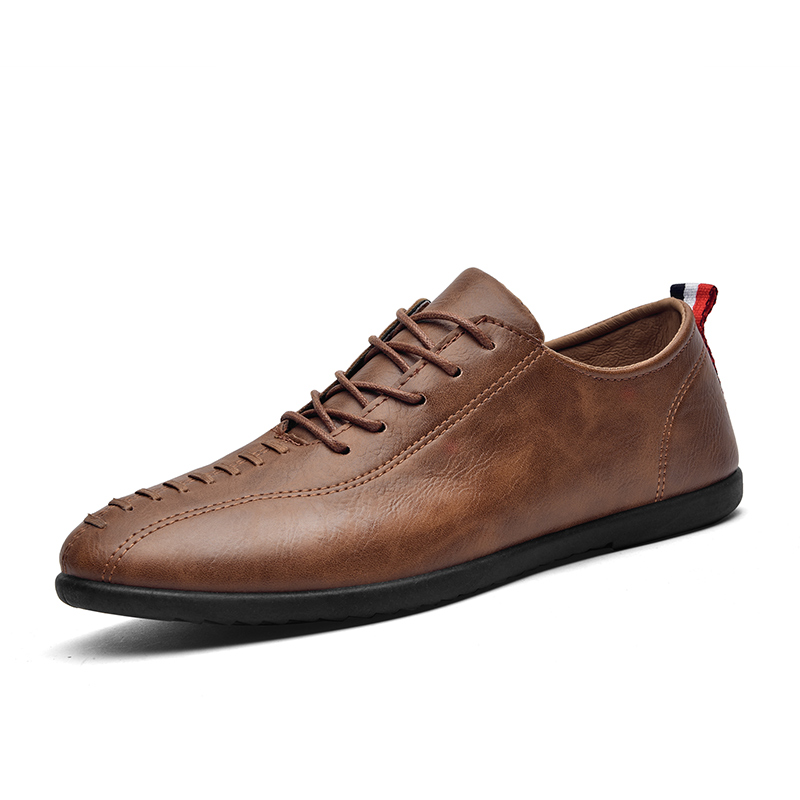 YIQITAZER 2018 New Summer Fashion Leather Casual Man Shoes,Lace up Cool Quality Business Mens Shoes Leather Man Black
