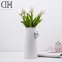 DH Tulip Flowers Collaboration Artificial Flowers Set Real Touch PU Artificial Bouquet Flowers For Home Decoration
