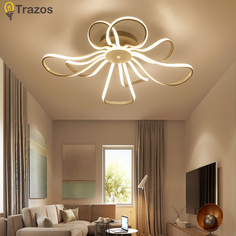Ceiling Lights & Fans Lights & Lighting Creative Flowers Led Ceiling Lights Simple Modern Led Lamps For Living Room Bedroom Luminaria De Teto Led Ceiling Light Fixtures The Latest Fashion
