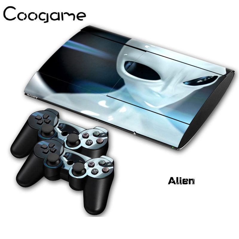 Alien Decoration Skins Sticker For PalyStation 3 Slim 4000 Console Stickers Joystick Pads Decal For Sony PS3 Slim4000 Games