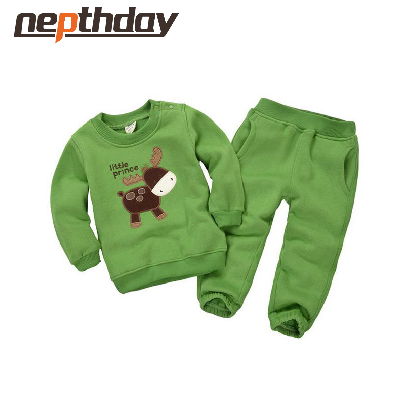 2016 Spring&Autumn Children Boy&Girl Clothing Set Baby Casual Sports Cute Animal Pattern Costume Kids Clothing Set Suit 15-333 2017 baby girl s sports clothing set spring autumn children s clothes girl casual hoodies long trousers pants