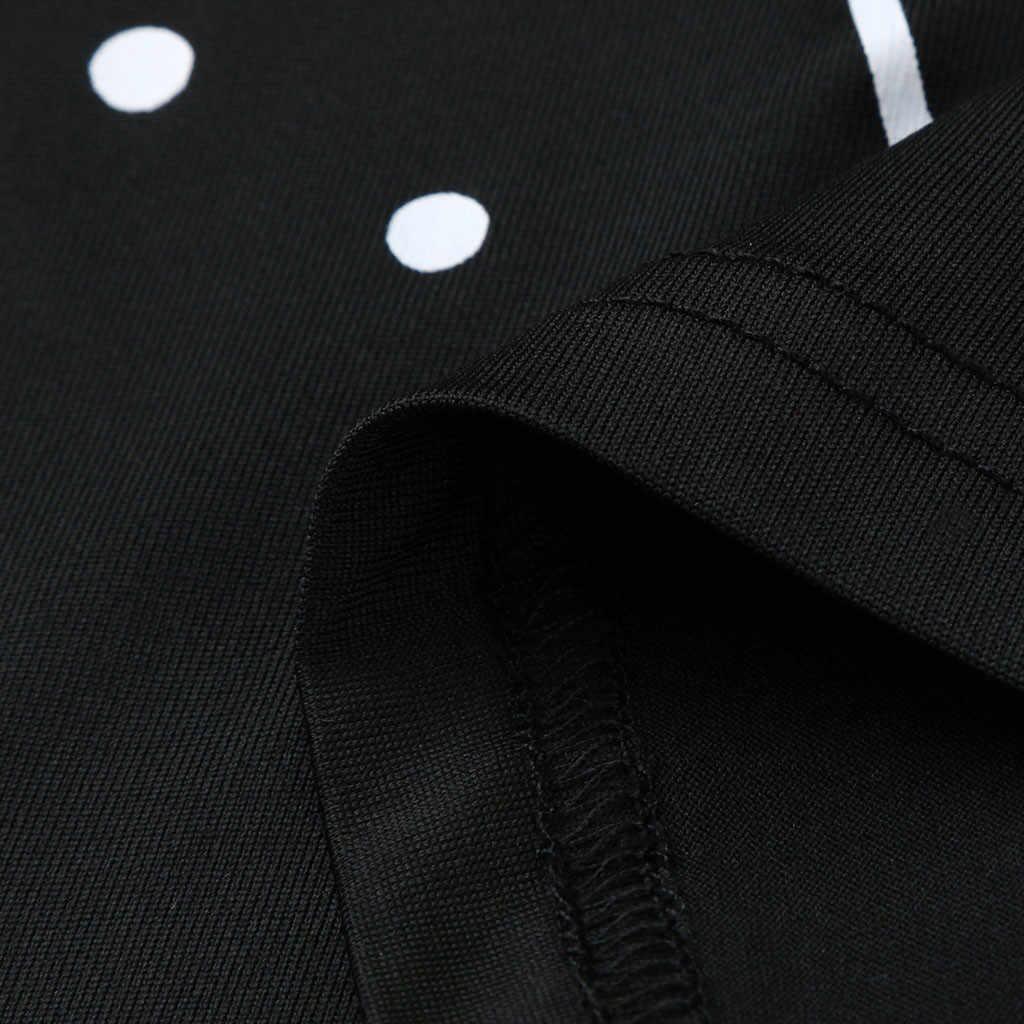 נשים חולצות קיץ סתיו גותי פאנק סגנון ירח הדפסה קצר שרוול צווארון V Streetwear Tshirts למעלה T חולצה נשים Camisas Mujer