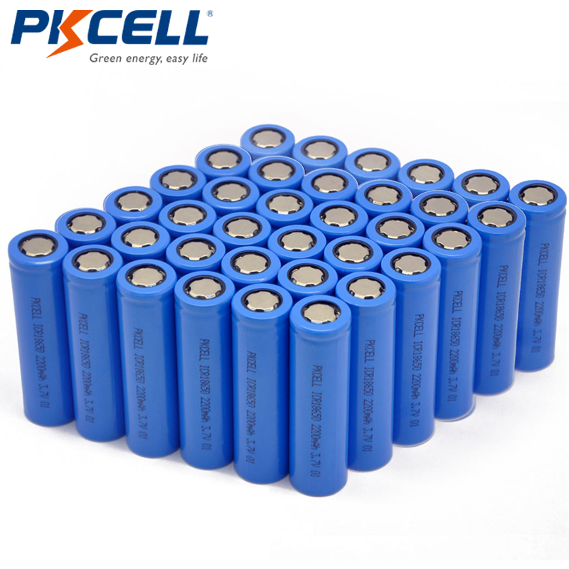 200pcs Lot Pkcell 18650 Lithium Rechargeable 3 7v 100