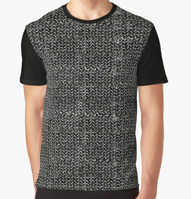 8cfc06a31 All Over Print T-Shirt Men Funy tshirt Chainmail Medieval Armor Art Short  Sleeve O-Neck Graphic Tops Tee women t shirt