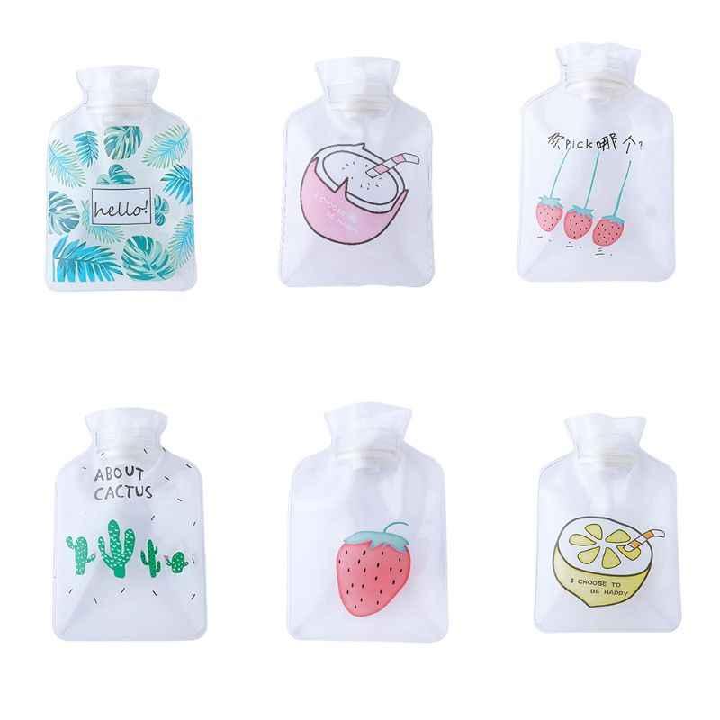 15,7x10,7 см прозрачный мини-горячие бутылка для воды картон фрукты Клубника кактус руки теплые Портативный подогреватель для рук впрыска