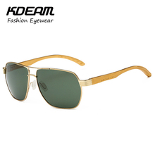 KDEAM Brand Hot Eyewear Polarized Sunglasses For Men Circular Rim Sunglass Driving Summer Fashion Sun Glasses With Box KD335