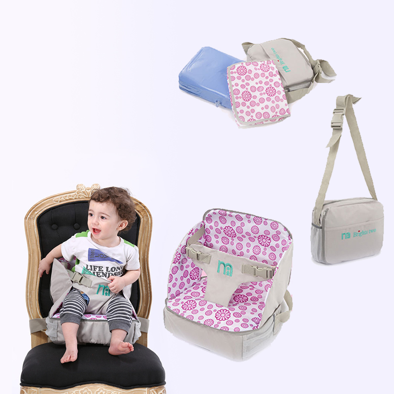 Foldable Baby Feeding Chair Booster Seat Dining Portable Toddler Compact Waterproof Lovely Print Automatic Inflatable Cushion