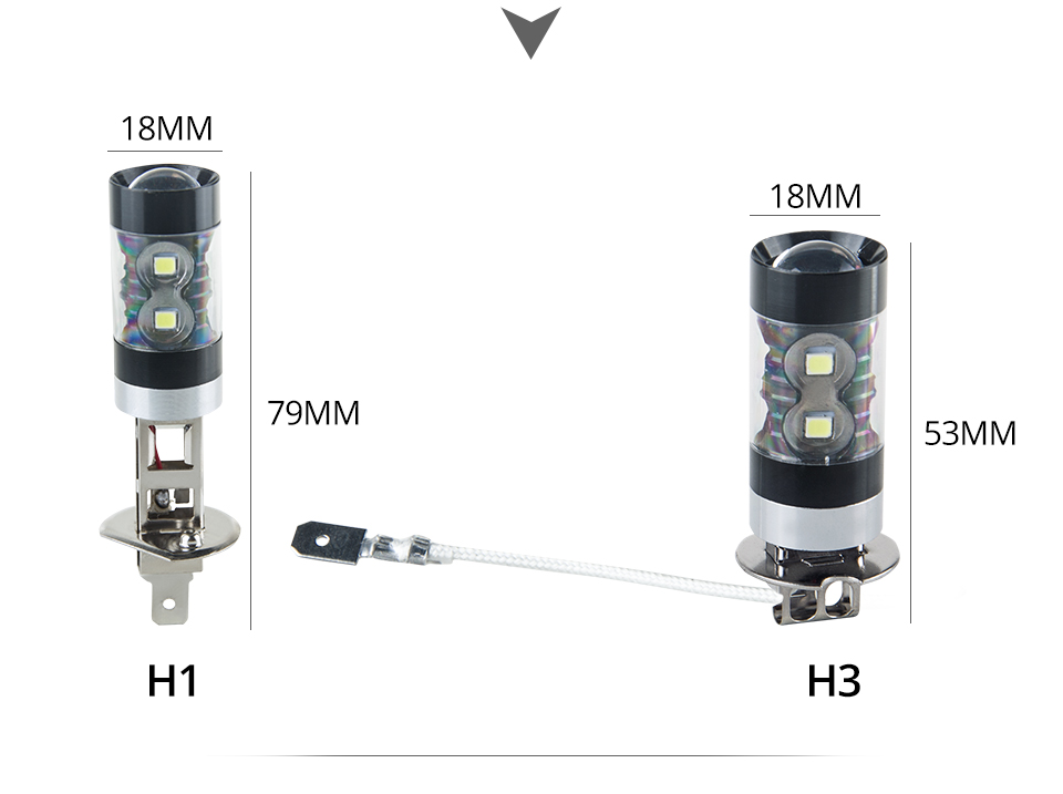 H7 Led Bulb H11 H8 H9 H1 Car Led Light 1200LM 9005 Hb3 9006 Hb4 Led Fog Light Bombilla Led 12V H3 H10 Luces Coche PSX24W 6000k  (16)