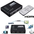HDMI True Matrix 3 / 5 Port HDMI Switch Switcher HDMI Splitter Hub Box for PS3 for Xbox 360 HDTV DVD with IR Wireless Remote