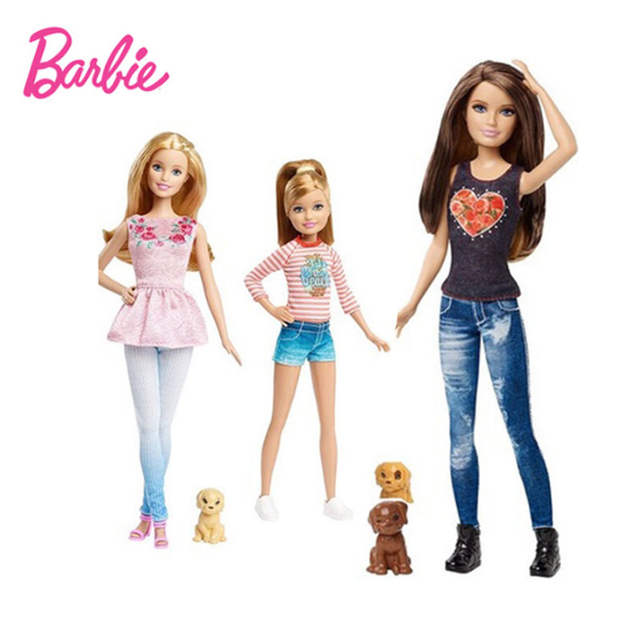 Online Shop Barbie Sisters With Puppy Fashion Combo Fashion Girl