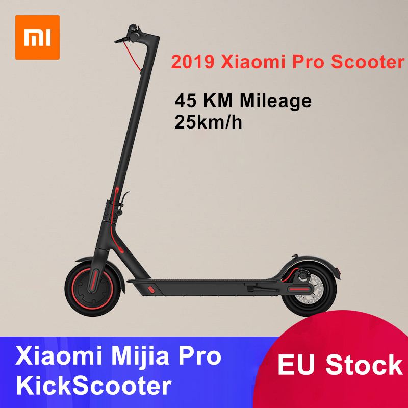 EU Stock Original Xiaomi Mijia Pro KickScooter Foldable 45 KM Mileage Smart Electric Scooter Hoverboard Lightweight Skateboard