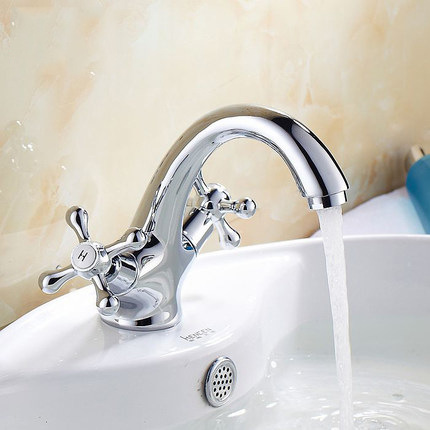 Counter Basin Copper Sink Faucet Sink Faucet Waterfall Basin Single Hole Double Handle Hot And Cold Water Taplt203 micoe hot and cold water basin faucet mixer single handle single hole modern style chrome tap square multi function m hc203