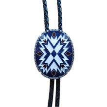 Розничная Новинка Американский юго-западный узор Тотем Овальный Свадебный Боло галстук кожаный ожерелье галстук BOLOTIE-WT117