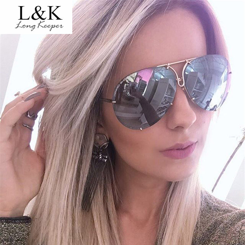 Devoted Long Keeper Womens Oversized Sunglasses Oval Driving Goggles Sun Glasses For Men Rimless Alloy Twin Beam Eyewears Gafas Bl9503 Women's Sunglasses Apparel Accessories