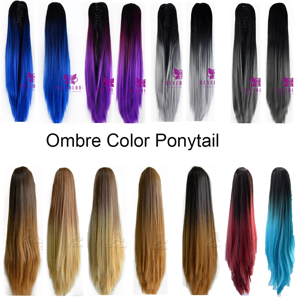 Fashion 20 Quot Clip On Hair Extensions Claw Pony Tail