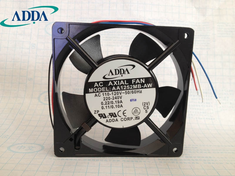 ADDA New original 12025 AC cooling fan AA1252MB-AW 4 wire speed control new original bp31 00052a b6025l12d1 three wire projector fan