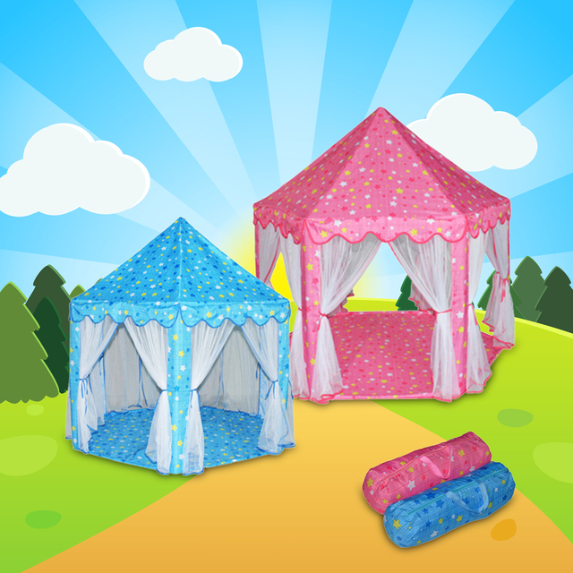 Portable Princess Castle Play Tent Children Activity Fairy House kids Funny Indoor Outdoor Playhouse Beach Tent & Portable Princess Castle Play Tent Children Activity Fairy House ...
