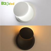 LED Wall Lamp Moon shaped Home Children Bedroom Bedside Read Light Stairs Corridor Decoration Lighting Wall Lamps