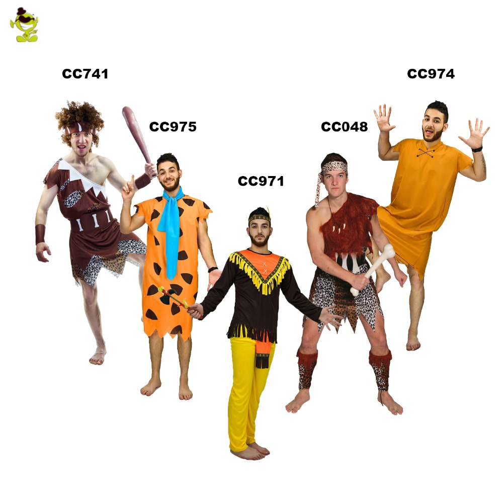 nueva selva caveman cosplay trajes de carnaval de la edad de piedra los croods pedro picapiedra