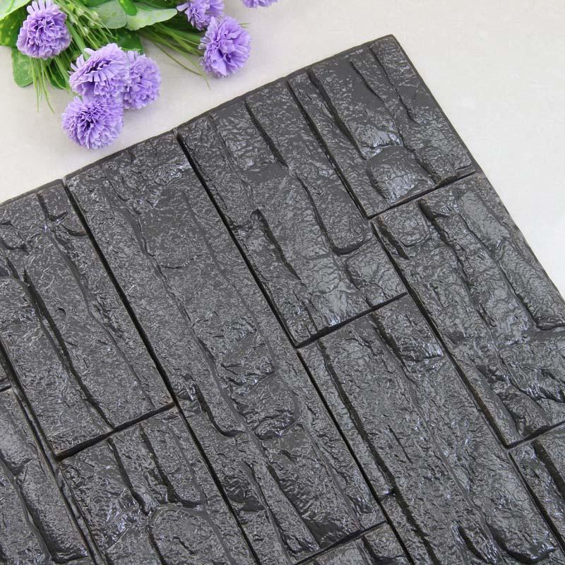 DIY 3D кирпичная ПЭ Пена наклейки на стену панели комнаты наклейка каменное украшение рельефная гостиная детская безопасная спальня домашний декор - Цвет: Deep gray70x38 cm
