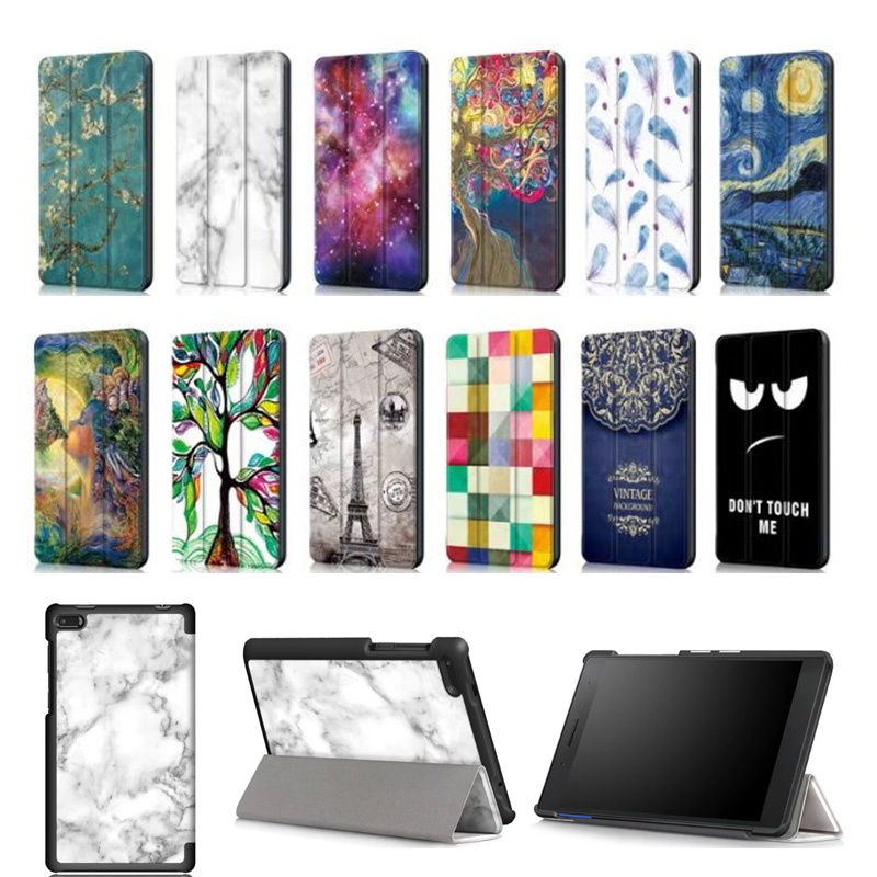 Fashion Painted Slim PU Stand Cover Case for Lenovo Tab 7 Essential TB-7304 TB-7304F TB-7304I TB-7304X 7 Tablet for lenovo tab 7 essential case maple leaves grain pu leather cover for lenovo tab 7 tb 7304f tb 7304i tb 7304x tablet case gift