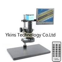 16MP 1080P USB Video Microscope Camera Kit + 180X / 300X C Bayonet Lens +144 LED Ring Light + 8 inch LCD Monitor for Labs