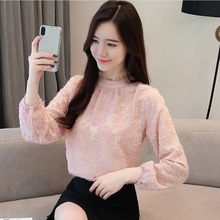 Hong Kong style chiffon shirt long-sleeved women early autumn dress 2018 new OL ladylike