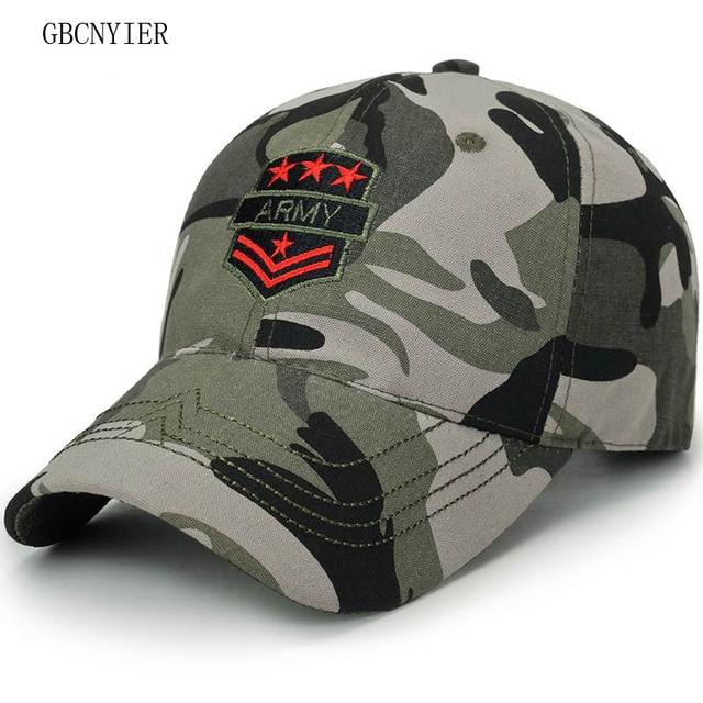 1f44ffd6089 GBCNYIER 2018 Spring New Style Camouflage Baseball Cap Fashion Leisure  Unisex Sun Hat Bone Brim Short Visor