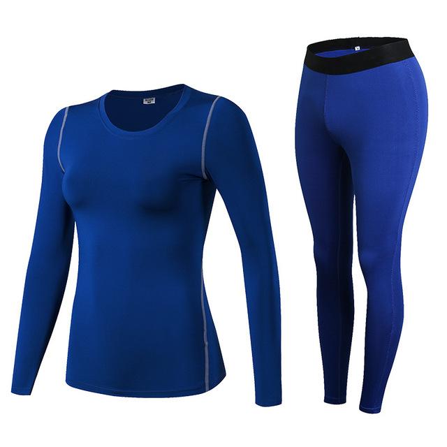 IEMUH Brand Women Thermal Underwear Winter Fitness Quick Dry Elastic Compression Warm Long Johns Thermo Underwear Set HI-Q