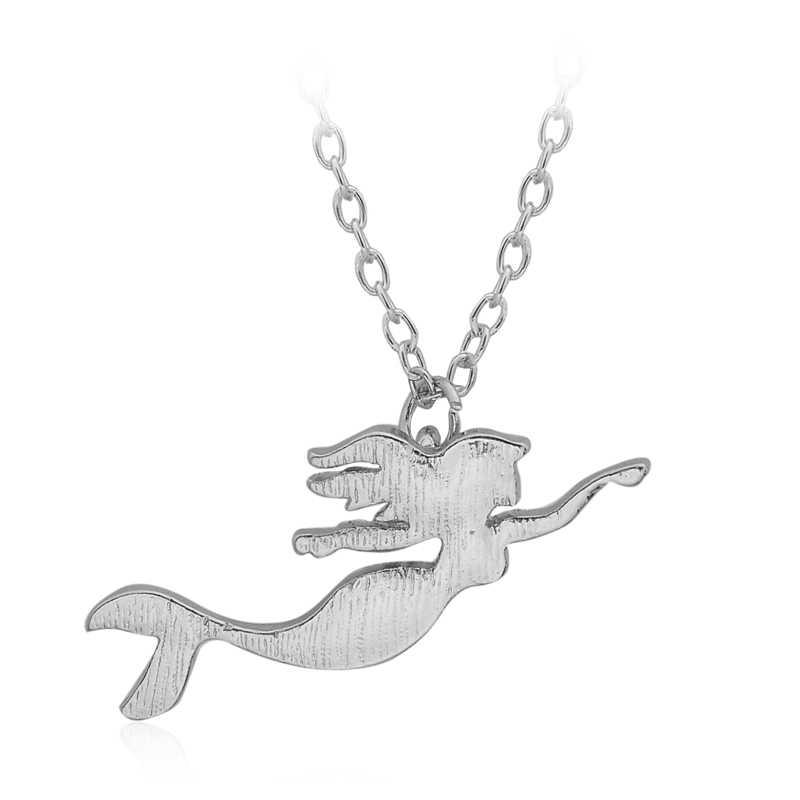 Подарок на день Святого Валентина маленькая милая девочка качели Danity простая девушка Подвески с изображением русалки для ожерелья для женщин девочек