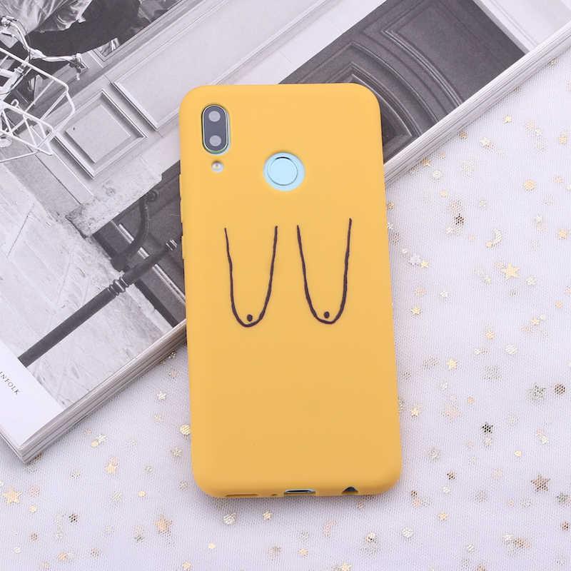 Для samsung S8 S9 S10 S10e Plus Note 8 9 10 A7 A8 Girl женский нагрудный ниппель кроп конфеты силиконовый чехол для телефона чехол для мобильного телефона