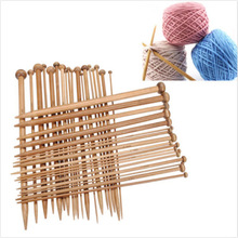 Knitting Needles For Sweater Coarse Knittings 36pcs 18 Sizes 25cm Carbonize Bamboo Single Pointed