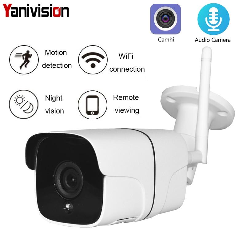 HD 1080P Wireless SD Card Slot Audio Camera 2.0MP wifi Security Camera IR Night Vision Metal Waterproof Outdoor ONVIF P2P Camhi
