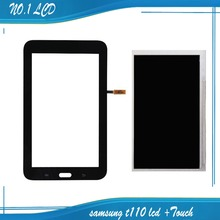Schwarz für samsung galaxy tab 3 lite 7.0 sm-t110 t110 Touchscreen Digitizer Panel + LCD Display Ersatzteile Freies verschiffen