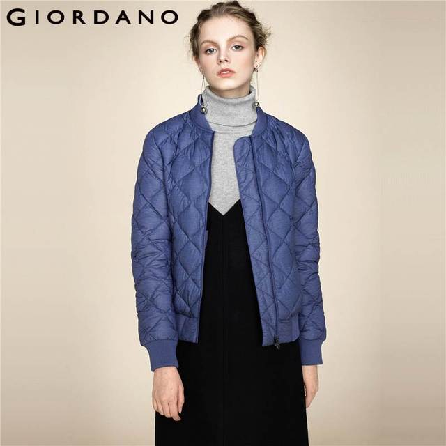Aliexpress.com : Buy Giordano Women Bomber Down Jacket 90% White ...