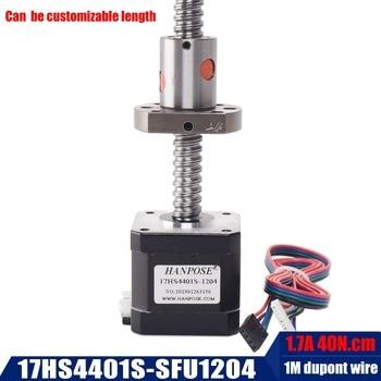 nema 17 stepper motor 42BYGH 1.7A 40N.cm 17hs4401 with sfu1204 ballscrew 12mm diameter  for Precision cnc machine